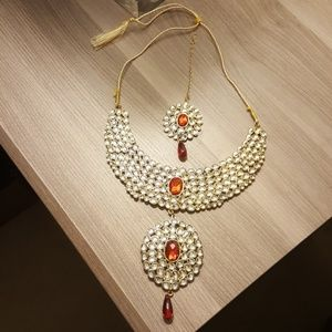 Jewelry - Costume Indian Ethnic Bridal Party Kundan Set -2pc